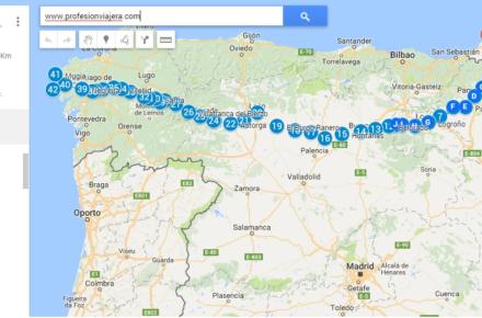 1000 km aprox caminando durante el Verano en España 2016